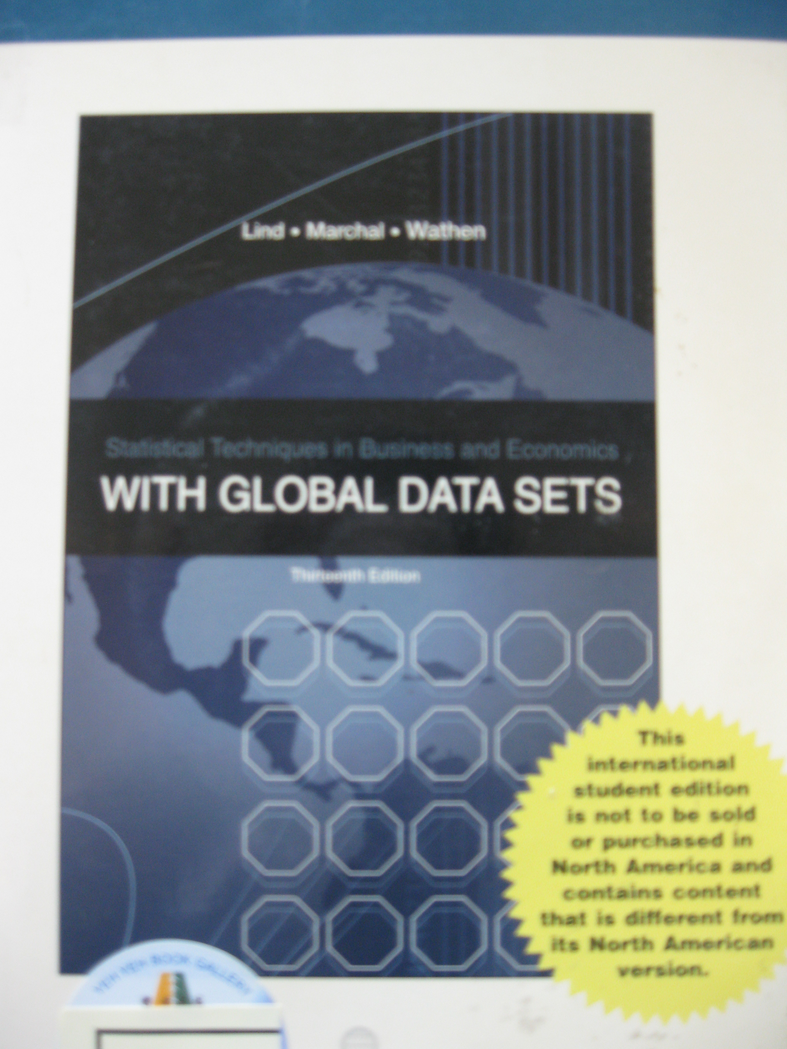(106)Statistical techniques in business & economics with global data sets